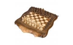 Шахматы + Нарды резные Арарат с бронзой 40 Ohanyan
