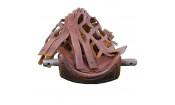 Комплект луз пул (57 мм, коричневые, кожа, бахрома с кистями, патина)